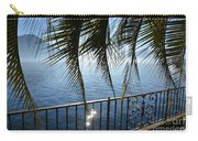 Palm Leaves On A Foggy Lake Carry-all Pouch