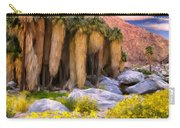 Palm Oasis And Wildflowers Carry-all Pouch
