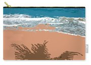 Palm Shadow On The Beach Carry-all Pouch
