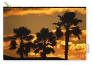 Palm Trees In Sunrise Carry-all Pouch by Susanne Van Hulst
