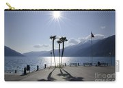 Palm Trees With Shadows On The Lakefront Carry-all Pouch