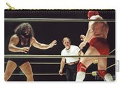 Pampero Firpo Vs Texas Red In Old School Wrestling From The Cow Palace  Carry-all Pouch