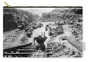 Panama Canal - Construction At The Culebra Cut - C 1910 Carry-all Pouch