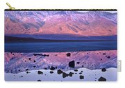 Panamint Range Reflected In Standing Carry-all Pouch by Tim Fitzharris