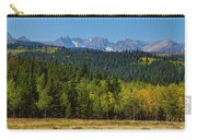 Panorama Scenic Autumn View Of The Colorado Indian Peaks Carry-all Pouch
