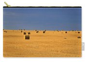 Panoramic Of A Straw Field, Near Val Carry-all Pouch