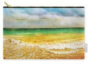 Panoramic Seaside At Tulum Carry-all Pouch by Tammy Wetzel