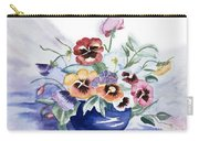 Pansies In Blue Pot Carry-all Pouch