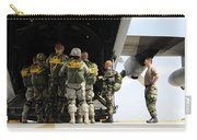 Paratroopers Gather Around The Back Carry-all Pouch by Stocktrek Images