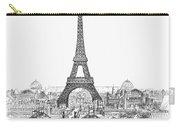 Paris Exhibition, 1889 Carry-all Pouch