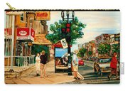 Park Avenue And Bernard Montreal City Scene Carry-all Pouch