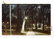 Park Path At Night Carry-all Pouch by Elena Elisseeva