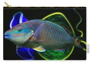 Parrot Fish With Glass Art Carry-all Pouch
