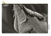 Parrot Tulip In Black And White Carry-all Pouch