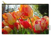 Parrot Tulips In Philadelphia Carry-all Pouch by Mother Nature