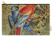 Parrots: Macaws, 19th Cent Carry-all Pouch