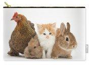 Partridge Pekin Bantam With Kitten Carry-all Pouch