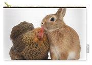 Partridge Pekin Bantam With Rabbit Carry-all Pouch