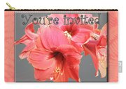 Party Invitation - Amaryllis Flowers Carry-all Pouch