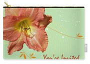 Party Invitation - Orange Day Lily Carry-all Pouch