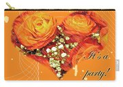Party Invitation - Orange Roses Carry-all Pouch