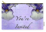 Party Invitation - General - Wild Iris - Blue Flag Carry-all Pouch
