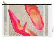 Passion Pink Strapped Pumps Carry-all Pouch