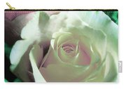 Pastel Pink And White Rose Carry-all Pouch