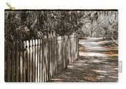 Path Along The Fence Carry-all Pouch