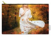Path Of Fall Carry-all Pouch by Karen Koski