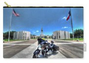 Patriot Guard Rider At The Houston National Cemetery Carry-all Pouch