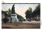 Paul Riquet Statue And The Allees In Beziers - France Carry-all Pouch