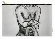 Paula - Charcoal Life Drawing Carry-all Pouch