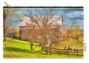 Peaceful Farm In Autumn Carry-all Pouch