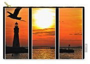Peaceful Sunset Triptych Series Carry-all Pouch