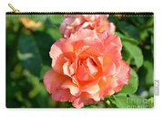 Peach And Yellow Ruffled Carry-all Pouch