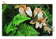 Peach Floral Carry-all Pouch