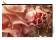 Peach Roses And Ribbons Carry-all Pouch by Svetlana Sewell