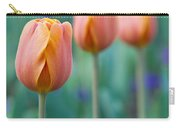 Peach Tulips  Square Format Carry-all Pouch