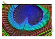 Peacock Feather Close Up Carry-all Pouch by Garry Gay