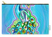 Peacock Swirl Carry-all Pouch