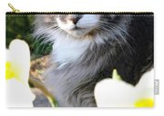 Peanut The Cat And Jonquils Carry-all Pouch