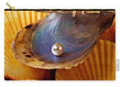 Pearl In Oyster Shell Carry-all Pouch