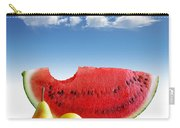 Pears And Melon Carry-all Pouch by Carlos Caetano