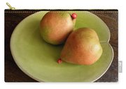 Pears On Heart Plate Carry-all Pouch