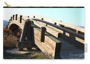 Pedestrian Bridge At Martinez Regional Shoreline Park In Martinez California . 7d10513 Carry-all Pouch