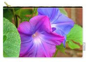 Peek-a-boo Morning Glories Carry-all Pouch
