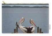 Pelicans On A Timber Landing Pier Mooring Carry-all Pouch