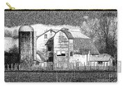 Pencil Sketch Barn Carry-all Pouch