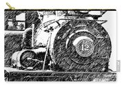 Pencil Sketch Locomotive Carry-all Pouch